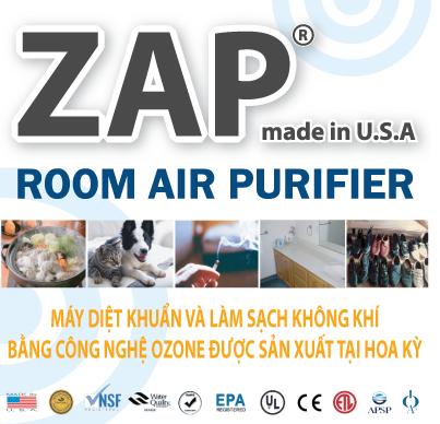 Máy khử trùng không khí bằng Ozones