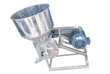 Máy xay bột cối inox , mặt cối bằng inox công suất 200kg gạo/h